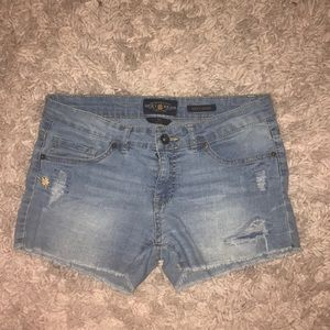 Lucky Brand Girls Ripped Jean Shorts!!